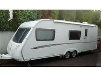 Swift Charisma 590 6 berth Double axle touring caravan.