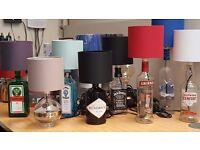 Upcycled Spirit Bottle Table Lamp Desk Light