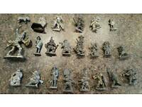 LEAD TOY SAMURAIS AND OTHER WAR GAME FIGURES