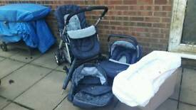 Silver Cross Freeway Pram/Pushchair/Travel System