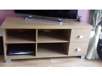 Oak effect chunky TV unit