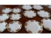 Royal Albert Rose Design plates