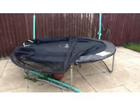 PLUM 8ft trampolines excellent condition but without the enclosure
