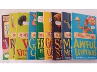 Horrible History (10 books)/ Horrible Geography (10 books) KS2 primary children (7 yrs old+)