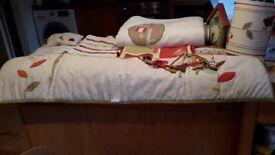 Mamas and papas nursery and bedding set