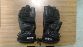 Frank Thomas Winter Motorbike Gloves Small GoreTex Leather Warm Motorcycle Gauntlet