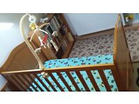 Mothercare wooden cot bed