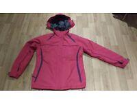 Dark pink size 14 ladies' ski jacket by 'Parallel'. Very good condition.