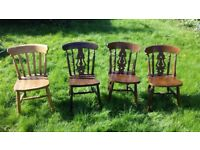 4 dining chairs £40 great for upcycling!