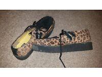 Funky TUK leopard print mens shoes size 11