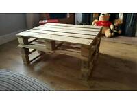 Hand crafted pallet coffee table