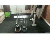 Weight bench set-up