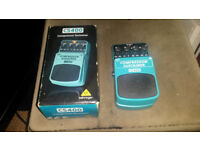 BEHRINGER COMPRESSOR SUSTAINER EFFECTS PEDAL,GUITAR OR BASS