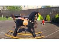 Childs Mamas and Papas black Rocking Horse
