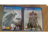 Watchdogs and Bloodborne for sell or swap