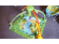 FISHER PRICE JUNGLE GYM RAINFOREST PLAYMAT GOOD CONDITION