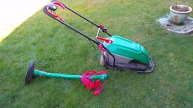 Qualcast Hover Mower (grass compactor) and Strimmer