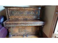 Beautiful Walnut Case Upright Piano
