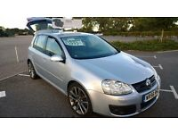 VOLKSWAGEN GOLF GT TDI 2.0L DIESEL SILVER 5DR 2 KEYS- ONLY 47K MILES! GREAT CONDITION! ONLY £4995!