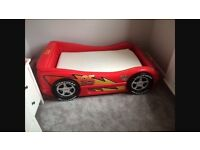 Single Disney cars bed with mattress