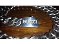"185g Gucci solid silver VERY heavy mens 26"" curb chain"
