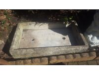 COTSTONE Stone Garden Tray Trough Sink