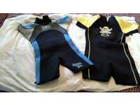Kids wetsuits age 9 and 12 yrs
