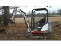 Mini Digger Bobcat X320 1.5 tonne