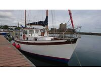 36'TYRELL BUILT MOTORSAILER £18500 GREAT VALUE JUST REDUCED