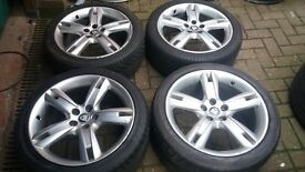 Genuine staggerd 18 jaguar S type alloy wheels xf xk 5 x 108 also ford connect volvo etc