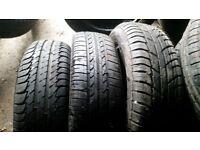 assorted 185/65/15 tyres