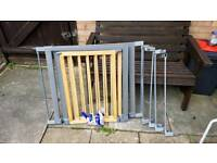 Child safety gates x2 wooden with extensions