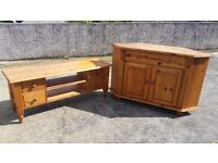 Tv unit and table
