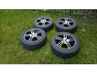 """Oz 16"""" alloy wheels. Not a mark on them with really good tyres"""