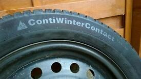 4 Winter Tyres (with rims) - Continental WinterContact TS 830P 205/55 R16