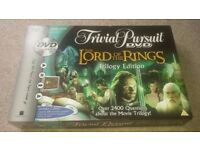 The Lord Of The Rings Trivial Pursuit Game
