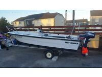 17 foot moorbass fast fisher boat