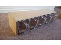 Ikea Kitchen Shelf/Glass storage drawers