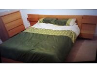 Ikea MALM Kingsize bed and furniture