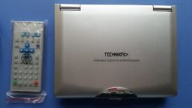 "Technika Portable DVD player PDVD 2005 7"" screen complete with allaccesssories and bag"