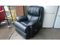 B&M Black Recliner Armchair