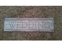Sass & Belle coastal chic wedding sign