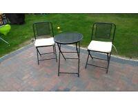 2 chaired garden set