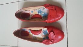 Red Born Flats - Size 40.5