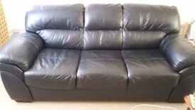 High Quality Black Leather Sofa