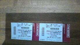 U2 - The Joshua Tree Tour - Sunday 9 July - Block L5, Row 26 - £300 (ovno) the pair