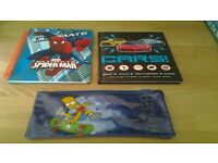 Books CARS ,SUPERMAN & BART PENCIL CASE
