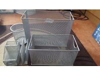 Wire Stationary and Paper Organiser - 4 Piece Set