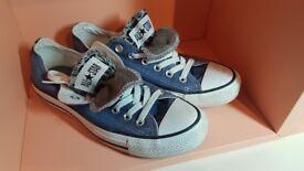 Converse - blue denim, size 5.5 - as new!