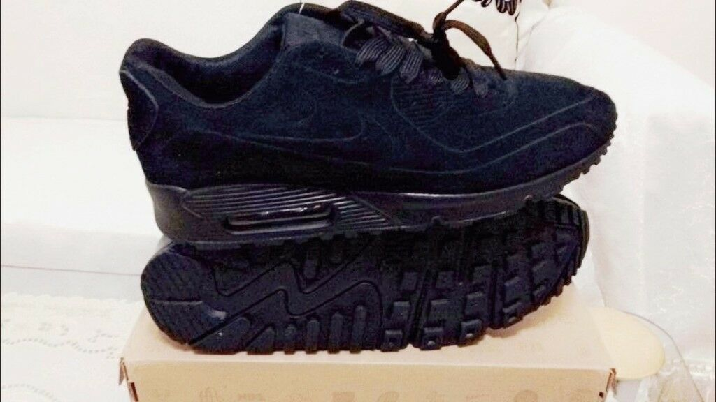 nike air max 90 hyperfuse suede vt Triple Black all sizes inc delivery paypal | in Ladywood, West Midlands | Gumtree